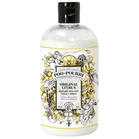 Poo~Pourri Before-Go-Go Toilet Spray, Original Citrus Scent,