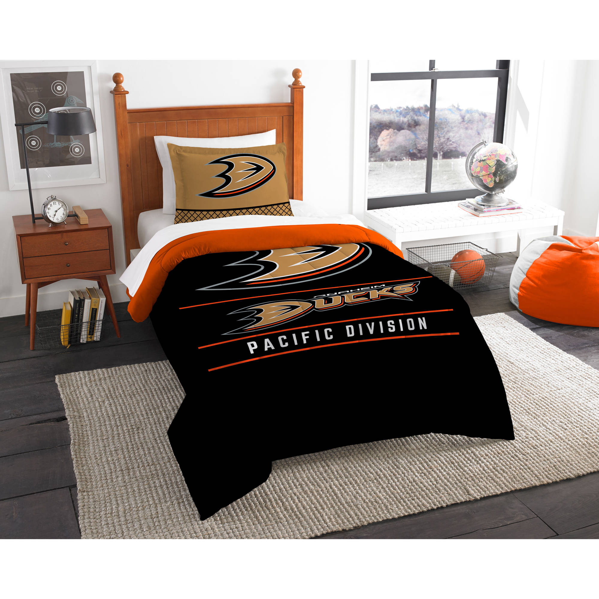 "NHL Anaheim Ducks ""Draft"" Bedding Comforter Set"