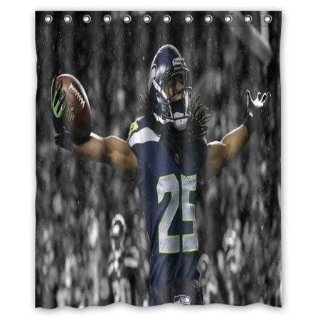Ganma Seattle Seahawk Stadium In Snow Rain Shower Curtain Polyester Fabric Bathroom Shower Curtain 60x72 inches