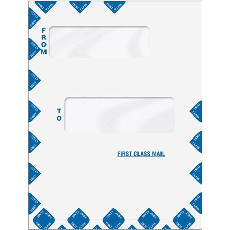 Offset Window First Class Mail Envelope, Expandable, Peel and Seal First Class Window Envelopes