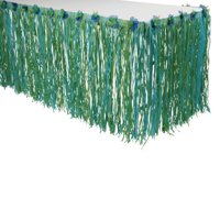 US TOY HL354 Paper Table Skirt w / Flowers - Blue / Green