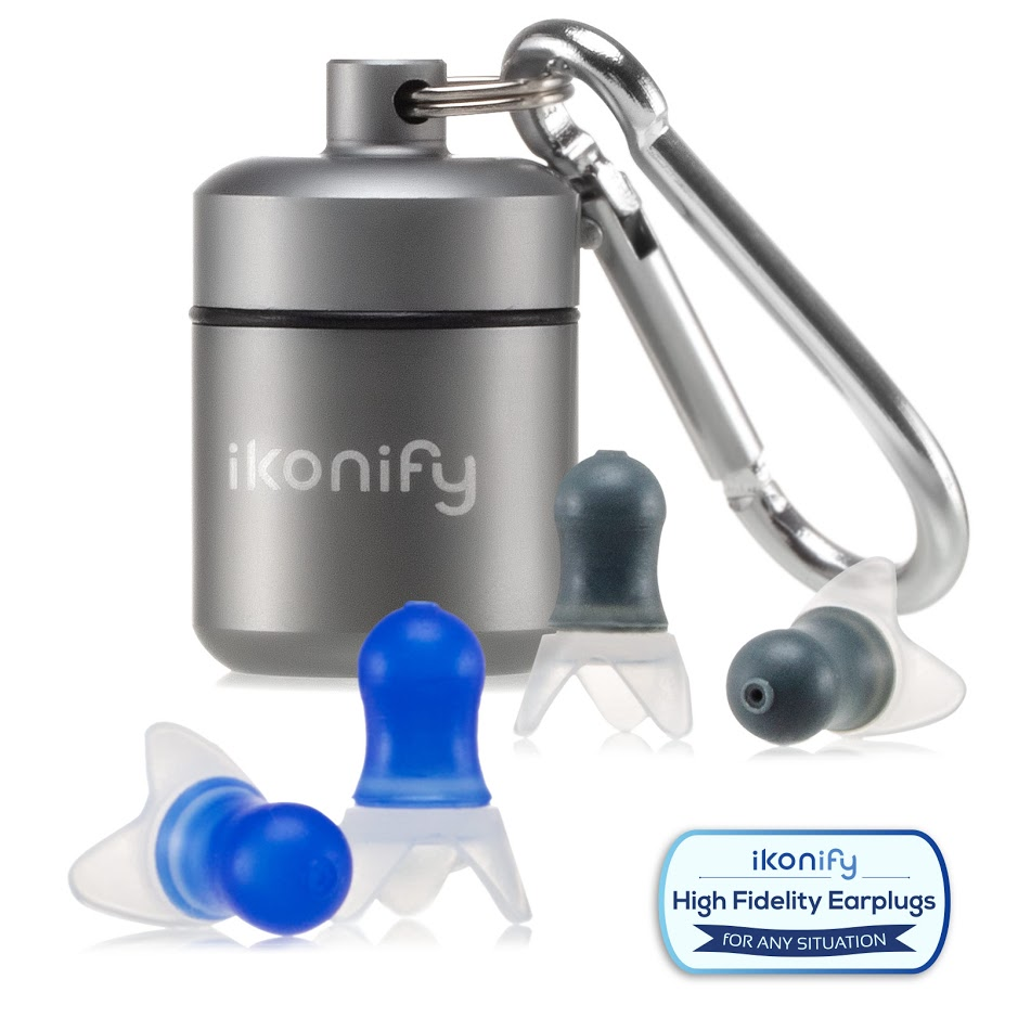Ikonify Noise Cancelling Ear Plugs - 2 Pairs Set Reusable Earplugs for Concerts