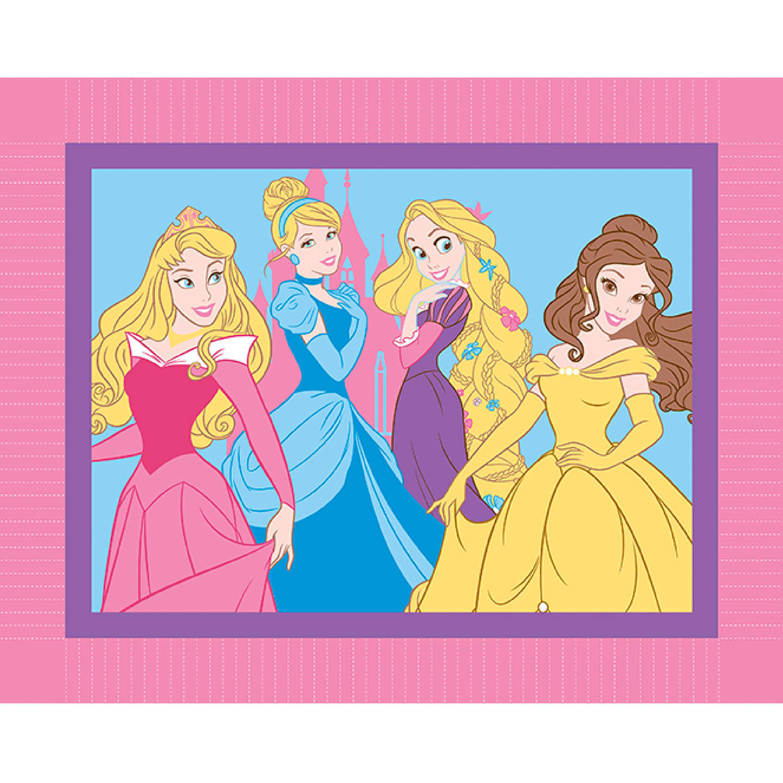 Disney I Am A Princess Micro Fleece No Sew Throw Kit, Pink