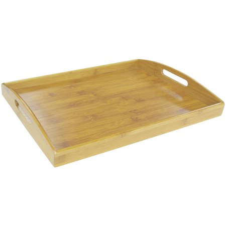 Home Basics Serving Tray (Bamboo Serving Tray Set)