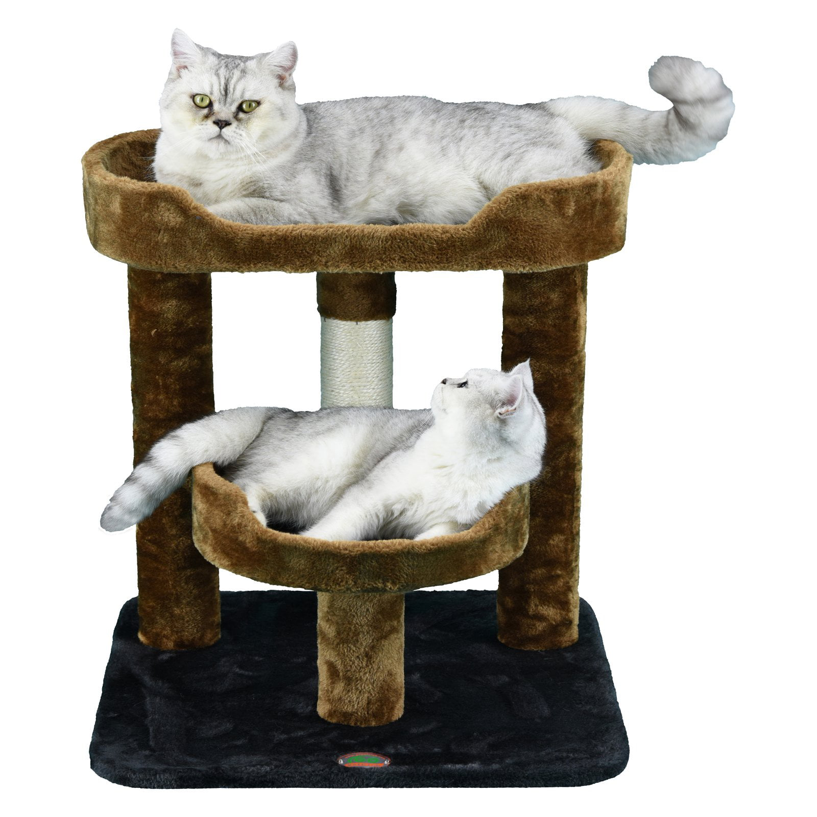 Go Pet Club 23 In Cat Tree Condo Scratching Post Tower Brown Walmart Com Walmart Com