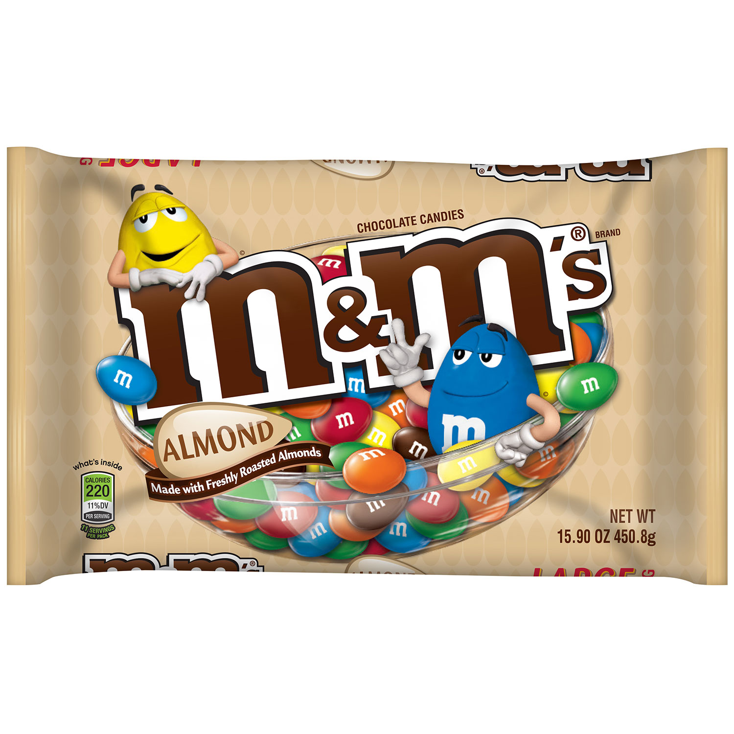 M&M'S Almond Chocolate Candy Bag, 15.9 oz
