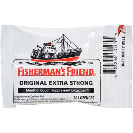 Fishermans Friend Extra Strong Menthol Cough Suppressant Lozenges  20 Ct