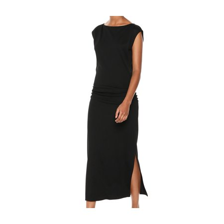 Womens Dress Jet Small Sheath Ruched Side-Slit S