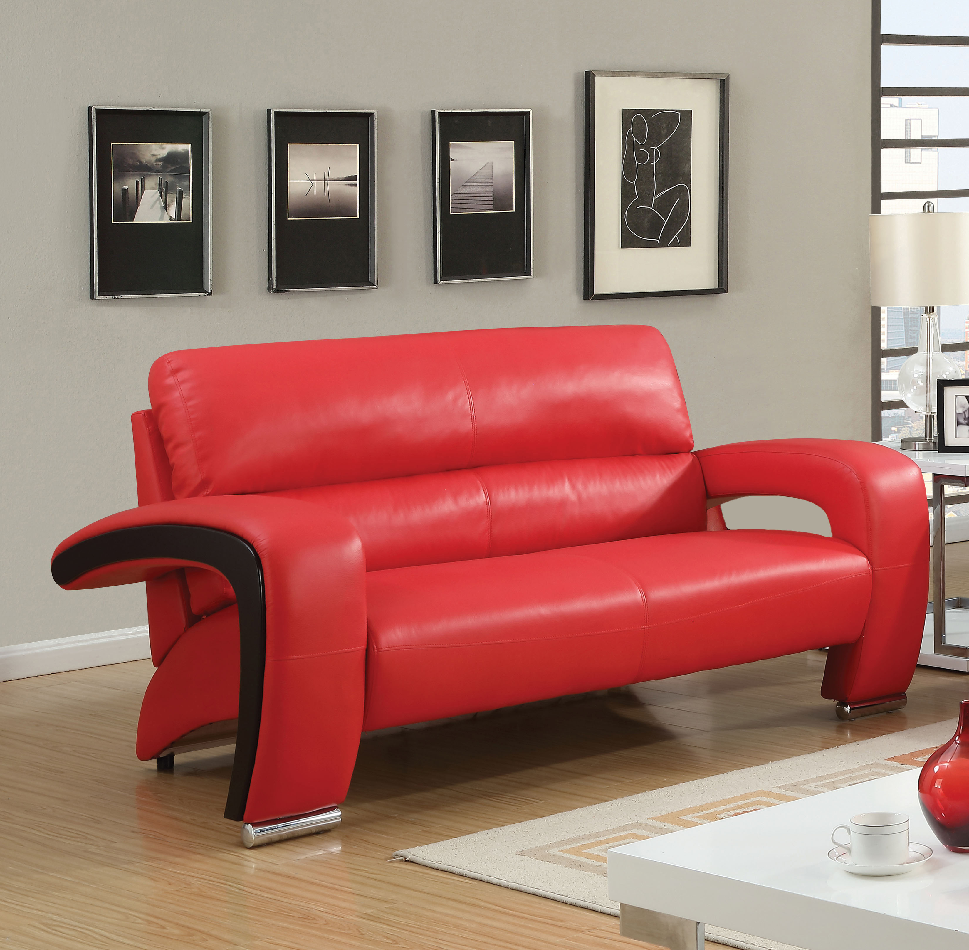 Furniture of America Kody Contemporary Loveseat, Multiple Colors