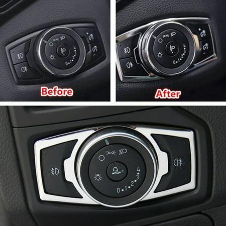 Chrome Interior fog headlight Switch Panel Cover Trim switch panel cover for 2015-2016 (Fog Lamp Trim)