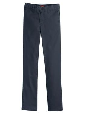 Genuine Dickies Girls School Uniform Flex Slim Fit Straight Leg Flat Front Pants, Sizes 4-16