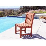 Malibu Eco-friendly Outdoor Garden Armless Chair