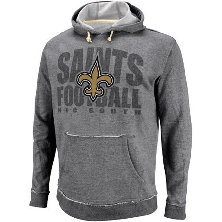 New Orleans Saints Crucial Call Heathered Hoodie - Ash - Nfl.com Saints