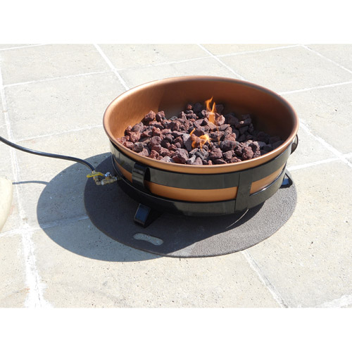 King Kooker Portable Propane Outdoor Fire Pit with Copper Bowl
