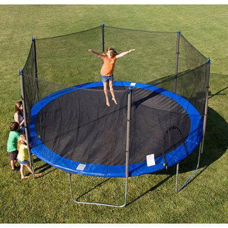 Outdoor Skywalker Trampolines 12' Round Trampoline and En...
