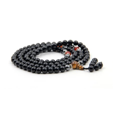 Fashion Style 8mm Black Agate Tibetan Buddhist 108 Prayer Beads Mala - Arabic Prayer Beads