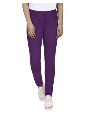 f069dd003e5 Product Image HDE Women s Mid-Rise Stretchy Denim Slim Fit Skinny Jeans  (Purple
