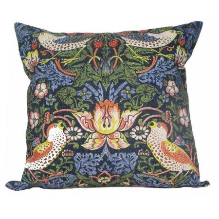 """William Morris Antique Birds Design Decorative Accent Throw Pillow with Insert 18"""""""
