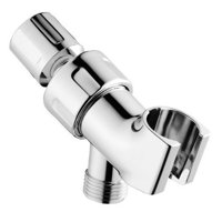 Wideskall Universal Showering Components Adjustable Shower Head Holder Shower Arm Mount (Chrome)