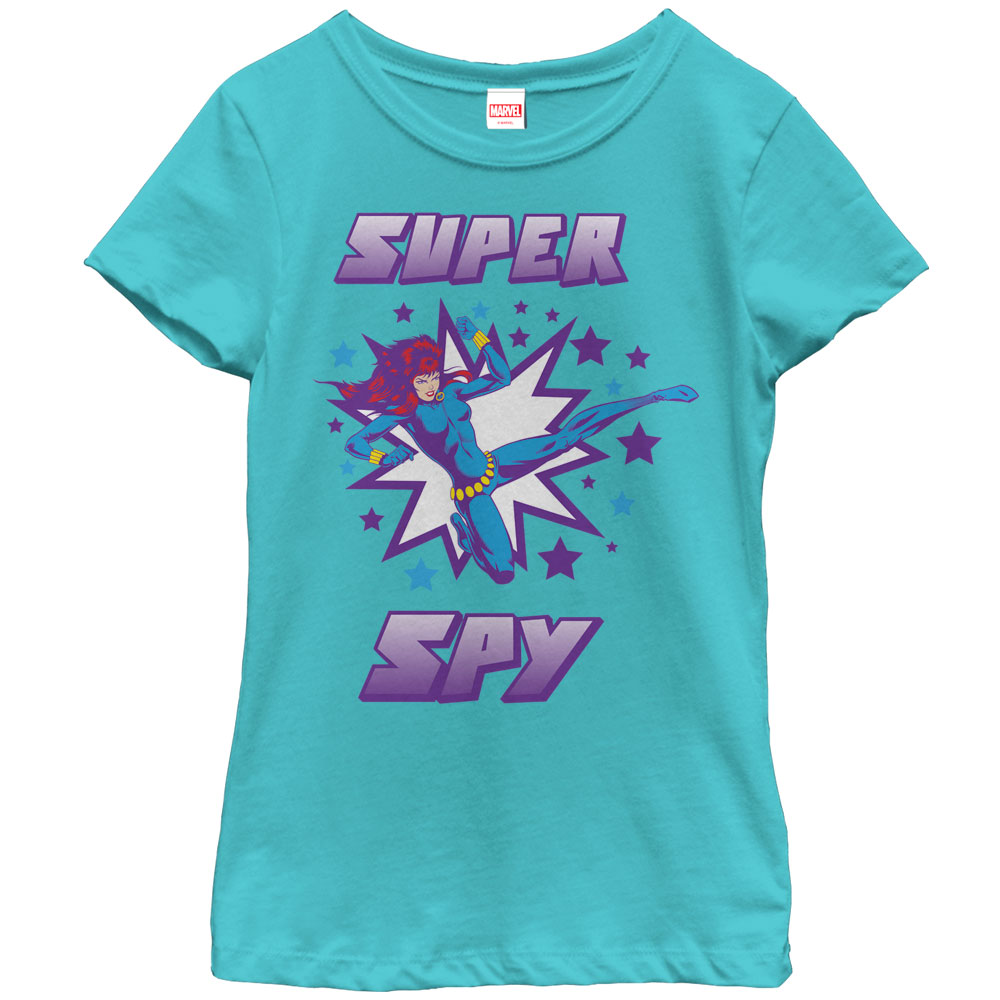 Marvel Girls' Black Widow Super Spy T-Shirt