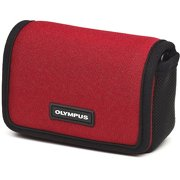 Olympus Neoprene Sport Horizontal - Case for camera - neoprene - red - for Olympus D-745, D-750, D-755, VG-160, VR-340, 350; Stylus Tough TG-810; Tough TG-320, 620