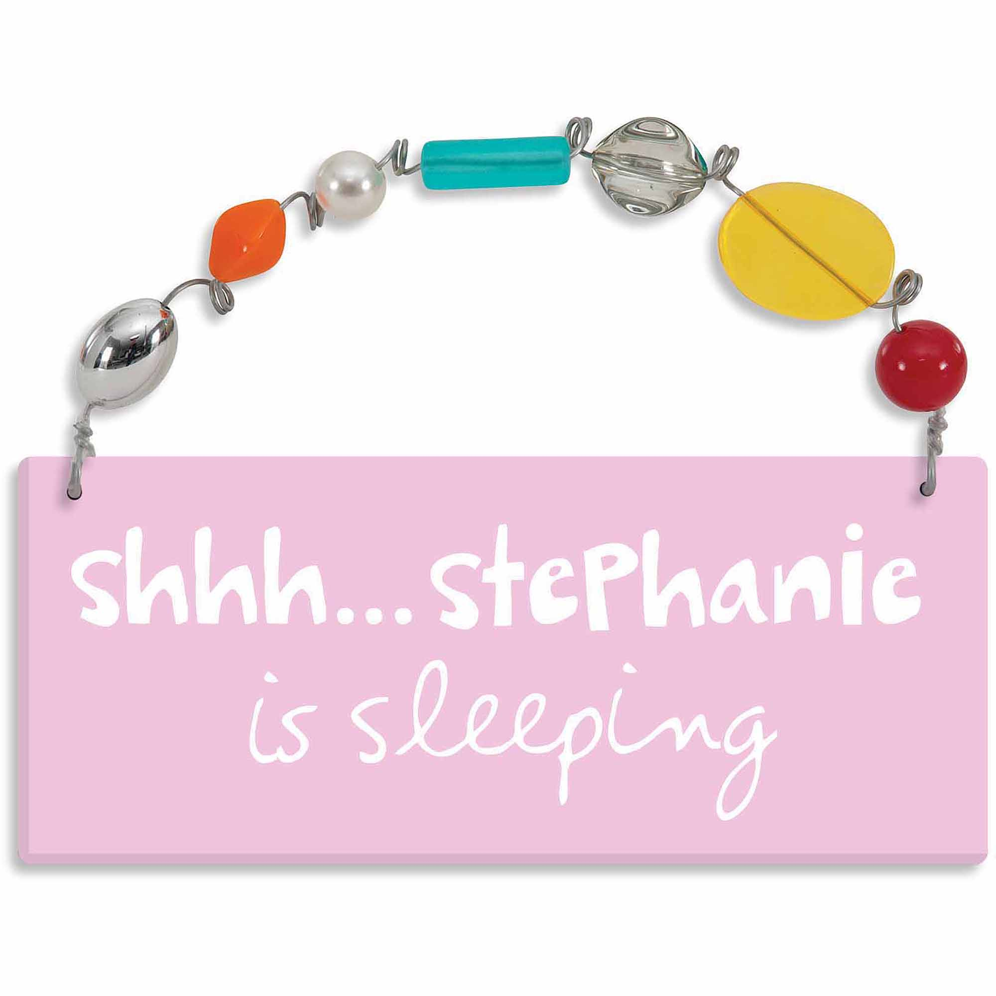 Personalized Sandra Magsamen Shhh…She Is Sleeping Wall Plaque
