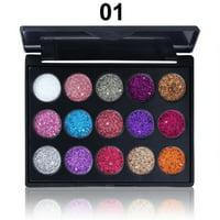 15 Colors Glitter Shimmer Matte Rainbow Diamond Eyeshadow Palette Makeup Cosmetic Pallete