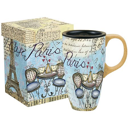 - Lang 19-Ounce Latte Mug with Gift Box, Assorted Patterns