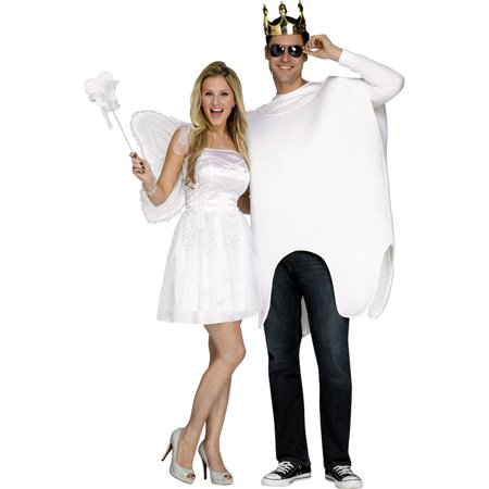 Morris Costumes Adult Unisex Tooth Fairy Tunic Wings Couple Costume, Style FW117294