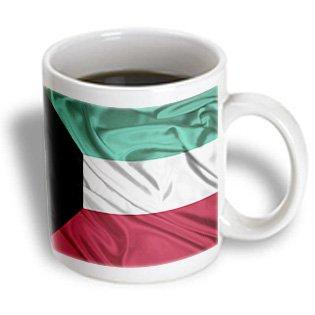3dRose Kuwait Flag, Ceramic Mug, 11-ounce