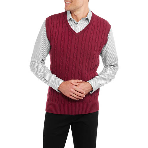 Mens Cable Knit Sweater Vest