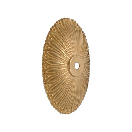 """B&P Lamp® 5 1/2"""" Solid Brass Die Cast Back Plate, Unfinished Brass"""