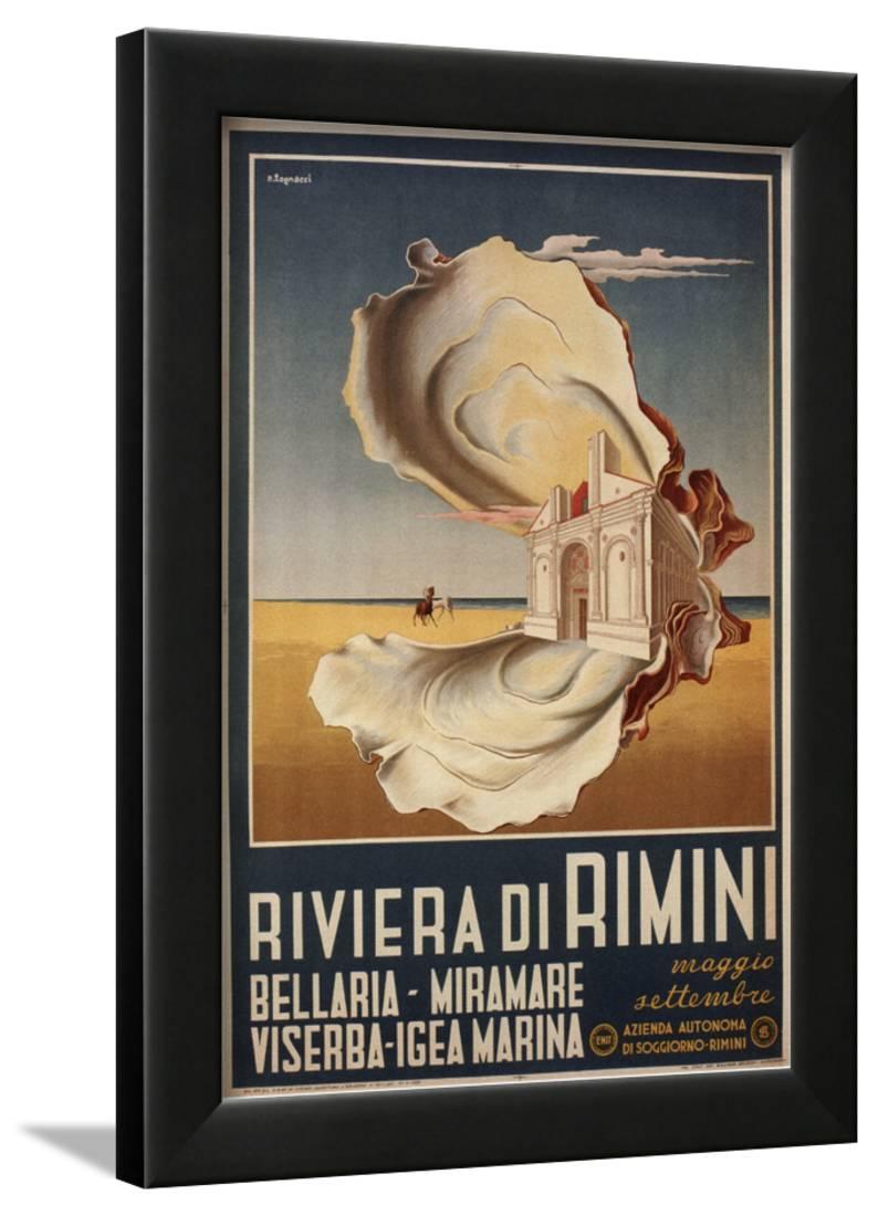 Riviera Rimini Framed Print Wall Art - Walmart.com