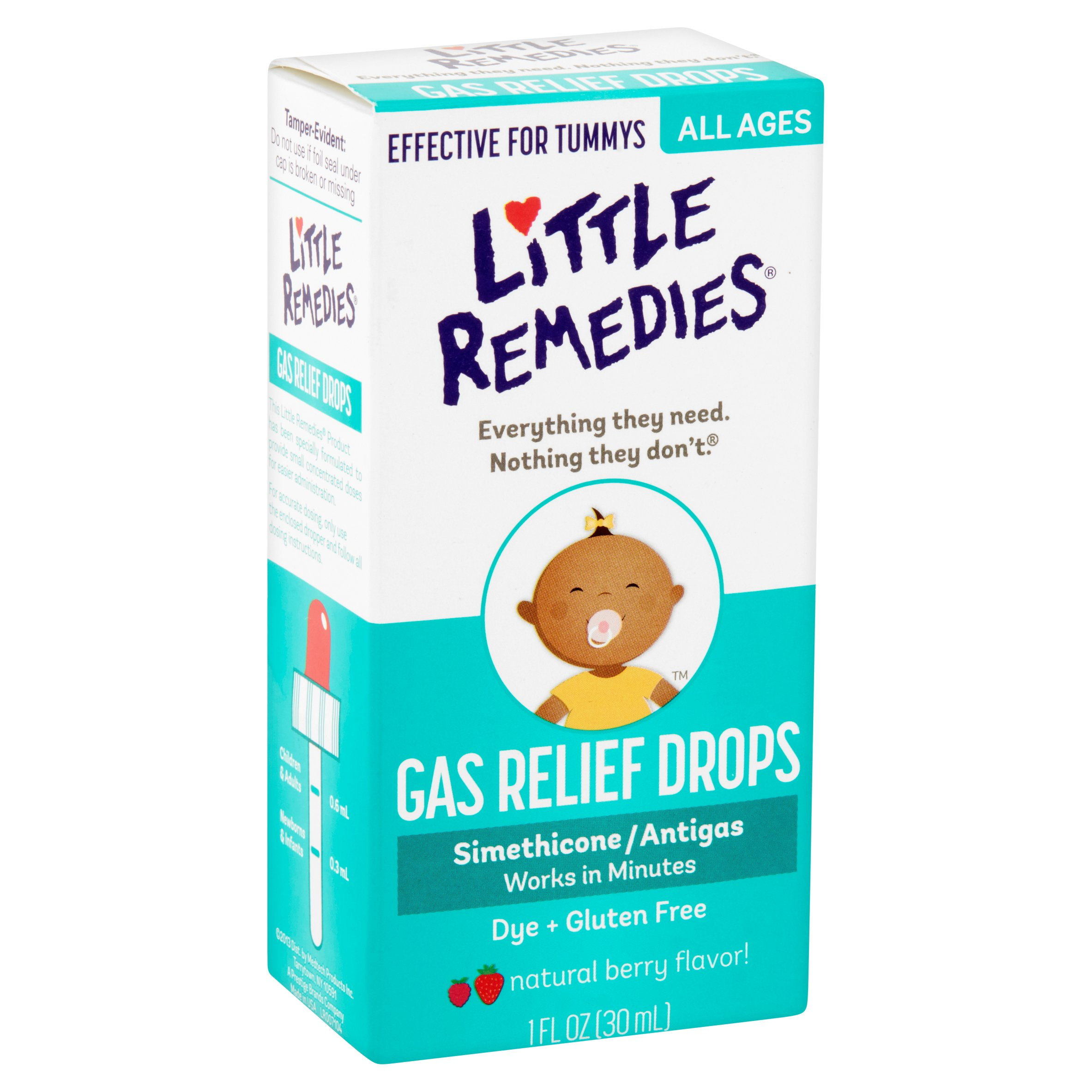 Little Tummys by Little Remedies Berry Gas Relief Drops, 1 oz ...