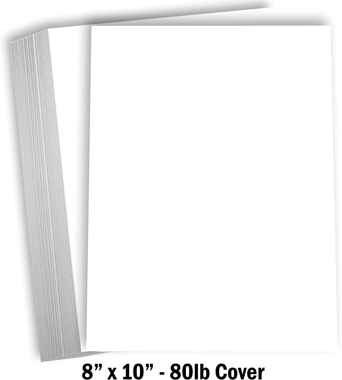 "hamilco white cardstock thick paper  8 x 10"" blank heavy"