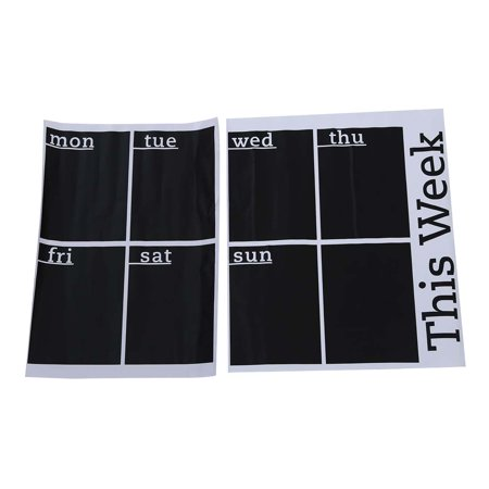 Thzy Weekly Planner Calendar Blackboard Removable Wall Sticker Chalk Board Decal