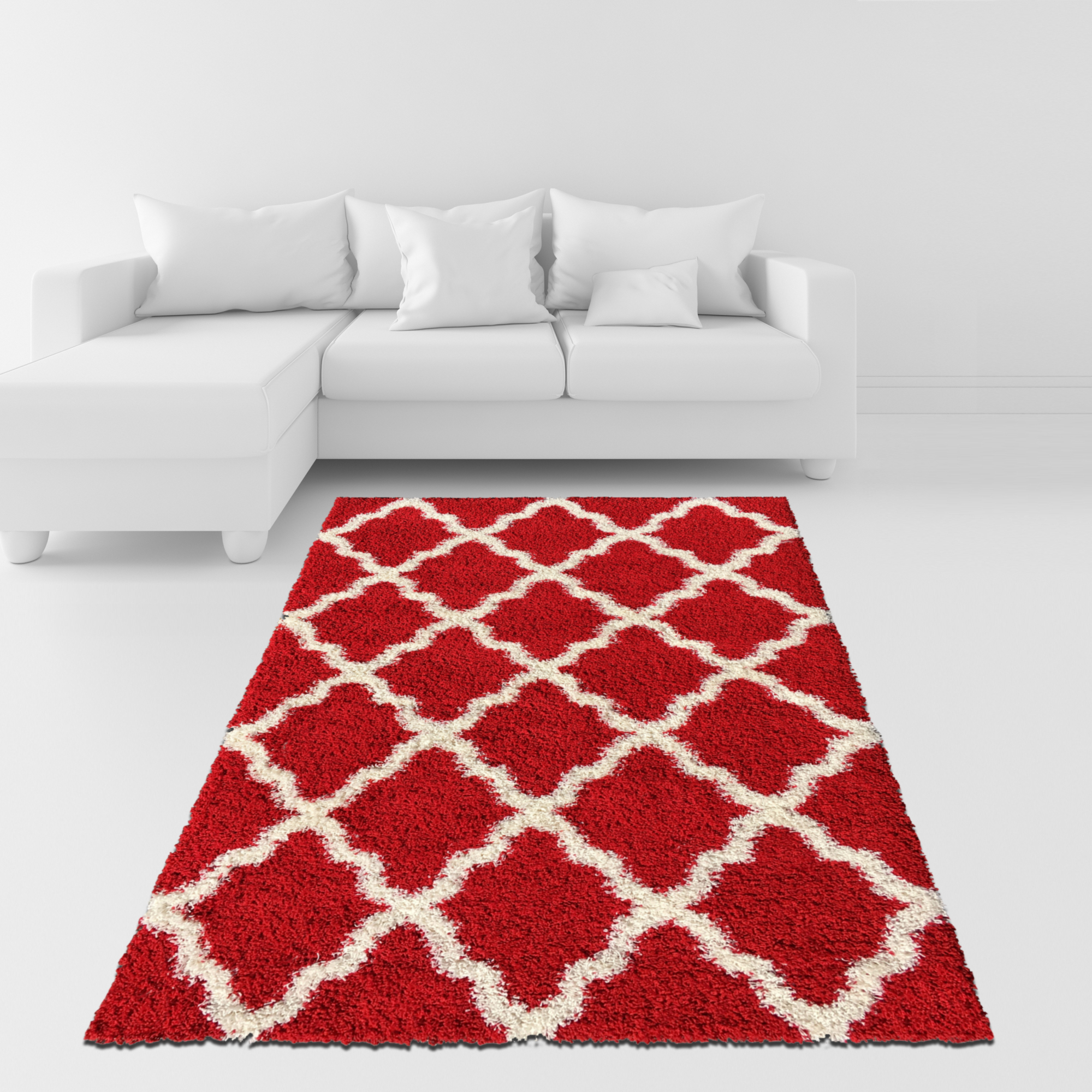 Maxy Home Bella Collection BE-2890 Anti-Bacterial Shag Area Rugs 60-inch-by-84-inch 5'x7' by Rugnur
