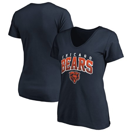Women's Fanatics Branded Navy Chicago Bears Faded Arch V-Neck T-Shirt (Macys Chicago)