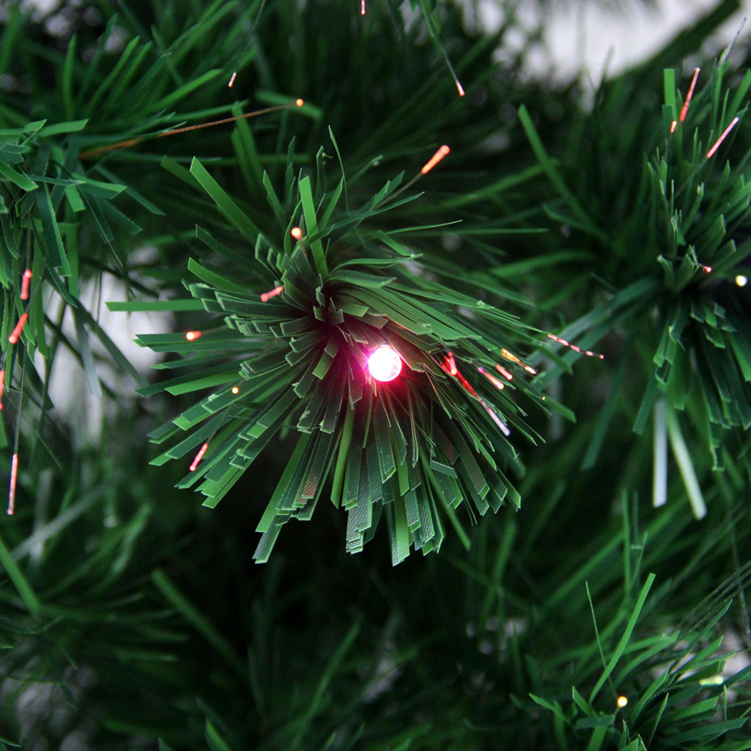 3 Pre Lit Led Color Changing Fiber Optic Christmas Tree With Star Tree Topper Walmart Canada