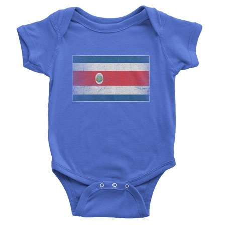 NYC FACTORY Costa Rica Flag Tee Infant Shirt Bodysuit Vintage Retro Boy - Boys Retro