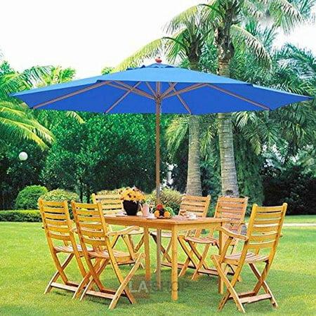 Oversized 13 Feet Market Patio Umbrella Outdoor Furniture Blue 106