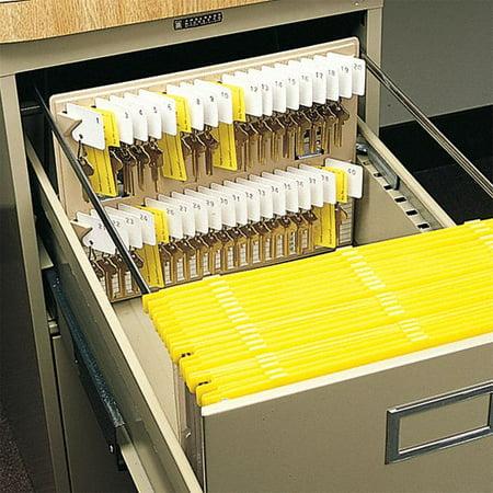 100 Key Cabinet - Steelmaster Key Control Cabinet, 12 x 10In, Cap40 Keys Plastic Plastic 201304003
