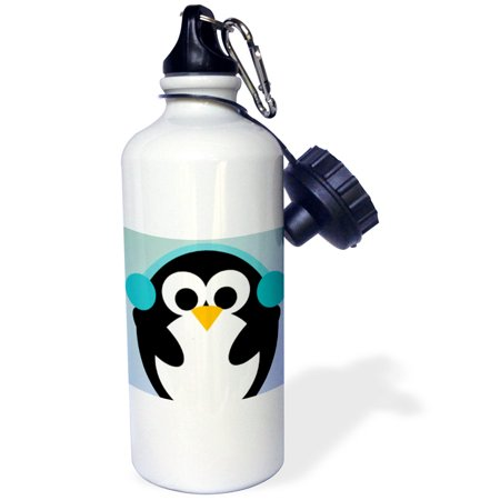 Penguin Bottle - 3dRose Christmas Penguin- Cute Whimsical Art, Sports Water Bottle, 21oz