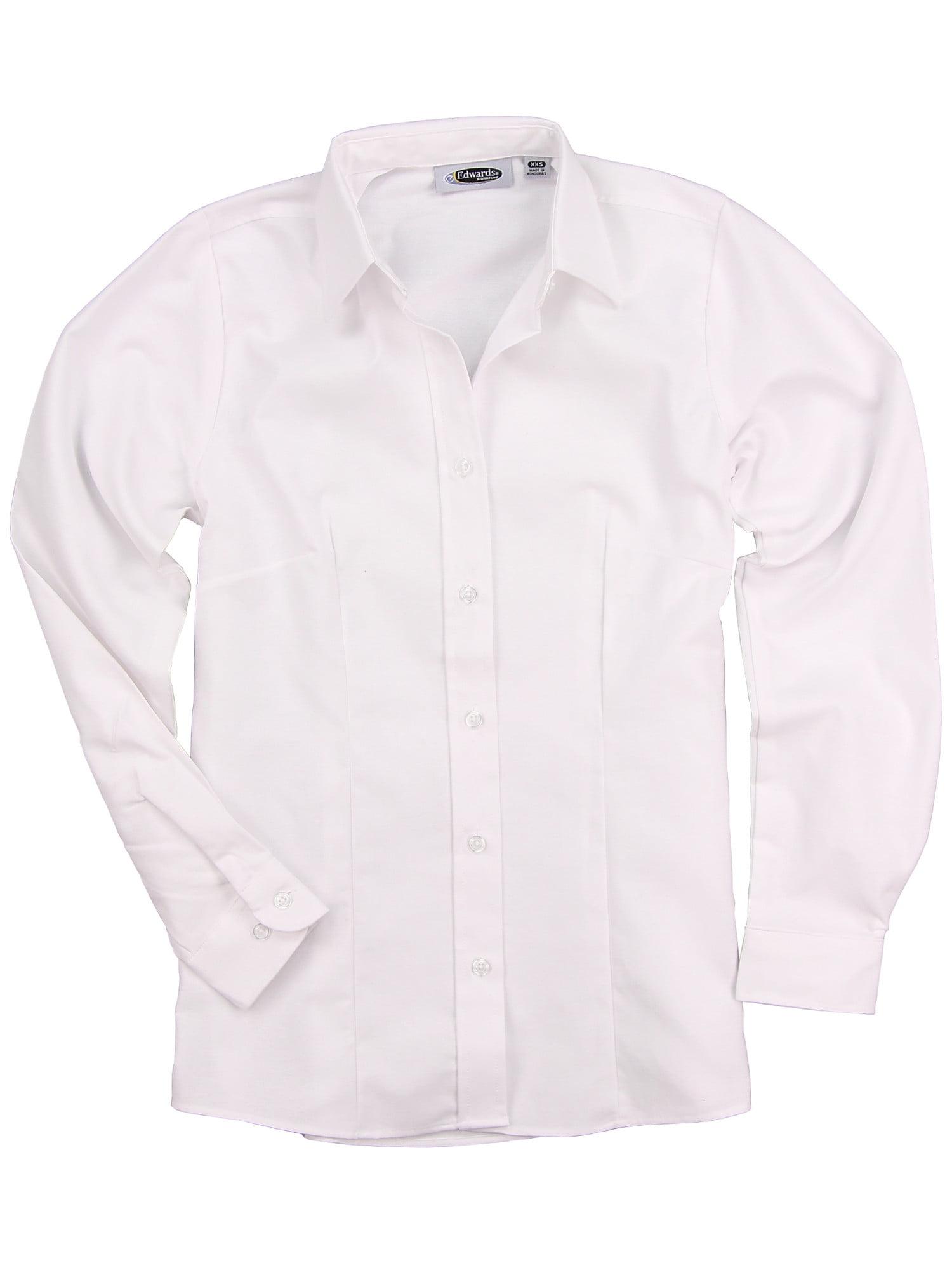 Edwards Womens Long Sleeve Oxford Shirt White X Large
