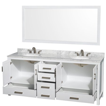 Wyndham collection sheffield 80 inch double bathroom vanity in espresso ivory marble countertop for 70 inch double bathroom vanity