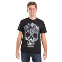 walking dead the skull montage t-shirt small black