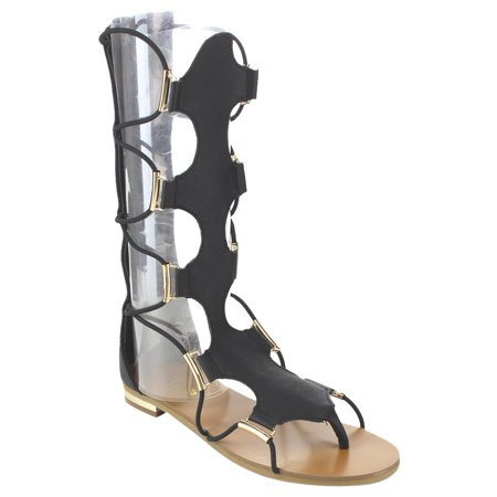 2ae0b9069d0a0d LINK GC68 Girl s Knee High Back Zipper Thong Gladiator Sandals ...