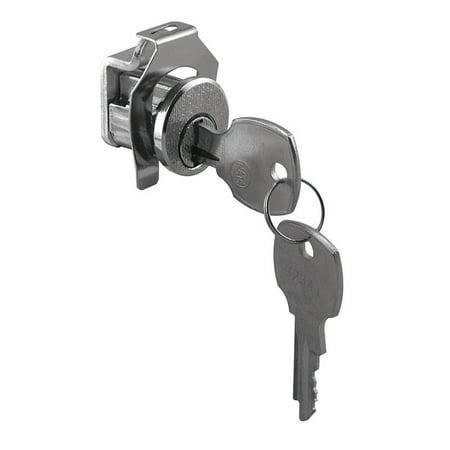 Prime-Line  Brushed Nickel  Steel  Mailbox Lock