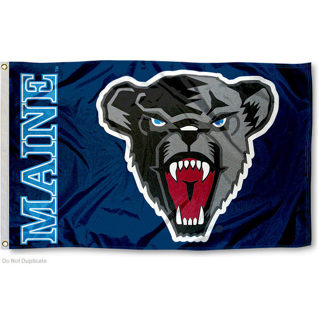 University of Maine Black Bears Flag