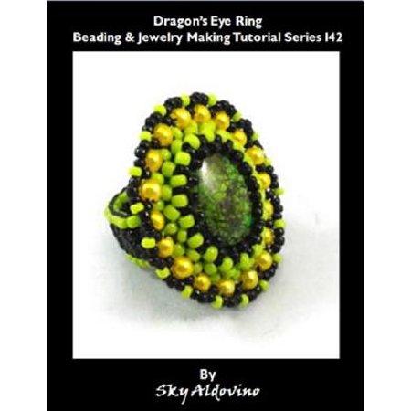 Halloween Smokey Eye Tutorial (Dragon's Eye Ring Beading & Jewelry Making Tutorial Series I42 -)